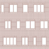 Brick facade pattern 1 Stock Image
