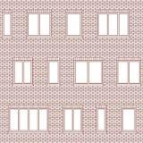 Brick facade pattern 1 Stock Image