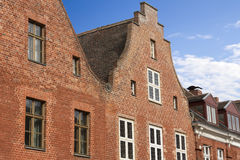 Brick facades Stock Photos