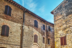 Brick facades in Italy Stock Images