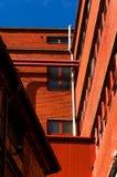 Brick factory. A factory made of red bricks Royalty Free Stock Photos