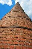 Brick factory chimney Royalty Free Stock Images