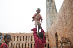 Brick Factory in India. Royalty Free Stock Photography