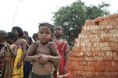Brick Factory in India. Stock Photos