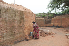 Brick Factory in India. Stock Photos