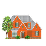 Brick family house Stock Images