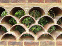Brick fence Stock Images