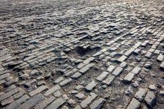 Brick field - Forbidden City, Beijing, China.  royalty free stock photography