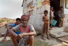 Brick field labour in India Stock Image