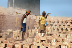 Brick field labour in India Royalty Free Stock Photography