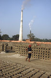 Brick field in West Bengal-India Stock Photo