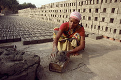 Brick field in West Bengal-India Royalty Free Stock Photos