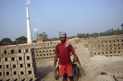 Brick field in West Bengal-India Royalty Free Stock Image