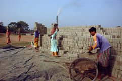 Brick field in West Bengal-India Royalty Free Stock Images