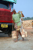 Brick field workers Royalty Free Stock Photo