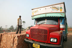 Brick field workers Royalty Free Stock Image