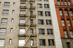 Brick and Fire Escape Stock Photography