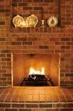 Brick Fireplace Stock Photos