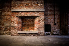 Brick Fireplace Background Stock Photography