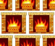 Brick fireplace pattern Royalty Free Stock Photo