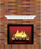 Brick Fireplace vector. Illustration clip-art eps Stock Images