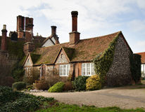 Brick and Flint House. Historic Brick and Flint English Village House Stock Images