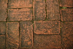 Brick floor Stock Images