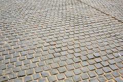 Brick floor background or texture Stock Photo