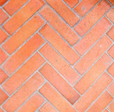 Brick floor  Geometric design Royalty Free Stock Photos