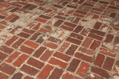 Brick floor Stock Image