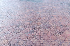 Brick floor Stock Photography