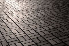 Brick floor pattern with sunlight Royalty Free Stock Image