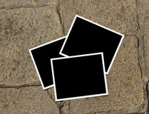 Brick floor Photo frames Stock Photos