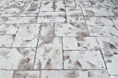 Brick floor. Rugged geometric outdoor brick floo stock images