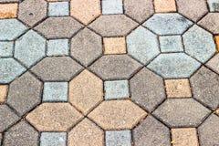 Brick floor texture Royalty Free Stock Photography
