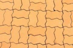 Brick floor texture cement  background Stock Photography