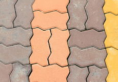 Brick floor texture cement  background Stock Image