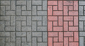 Brick floor texture. Red and black Stock Photos