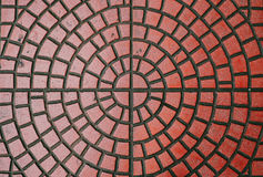 Brick floor texture. Red color Royalty Free Stock Photography