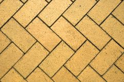 Brick Flooring. In Zig Zag formation Stock Image