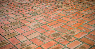 Brick floors Royalty Free Stock Images