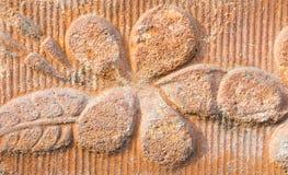 Brick flower. Beautiful brown colors stock image