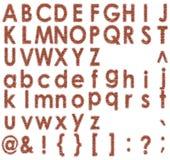 Brick font Stock Photo