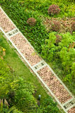 Brick footpath Royalty Free Stock Images