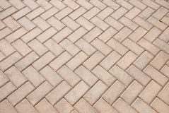 Brick footpath background Stock Photos