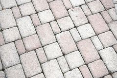 Brick footpath background. Royalty Free Stock Photos