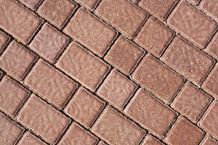 Brick footpath background Royalty Free Stock Photography