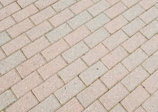 Brick footpath background Royalty Free Stock Images