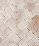 Brick footpath background Stock Photo