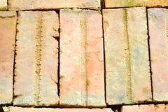Brick footpath background Stock Photos